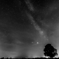 Werner Schad - Astrofotografie - Milchstraße bei Bronnen