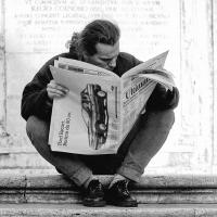 """Zeitungsleser"" / Lafo 2019 - Bernd Hillerich (Annahme)"