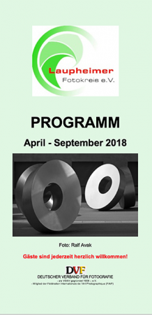 Programm April 2018 bis September 2018