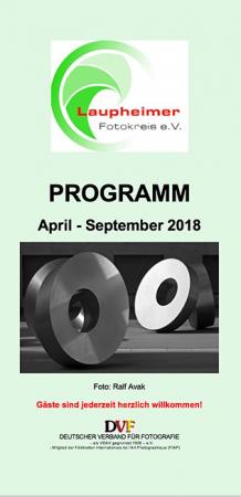 Programm April 2018 bis September 2018
