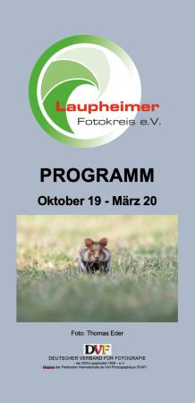 Laupheimer Fotokreis Programm 2019/2020